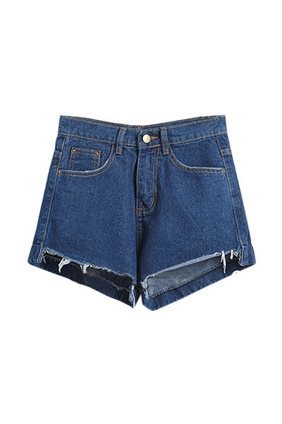 Hemmed In Denim Shorts