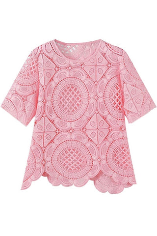 Bubblegum Crochet Top
