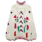 Retro Flower Embroidered Sweater