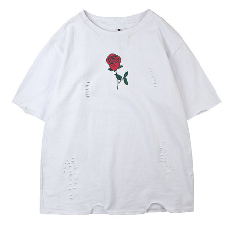 Distressed Rose T-Shirt
