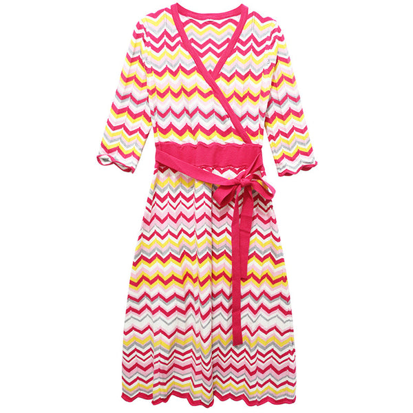 Zig Zag Wrap Dress