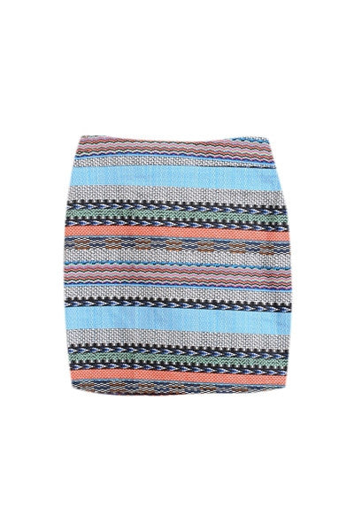Textured Stripe Skirt