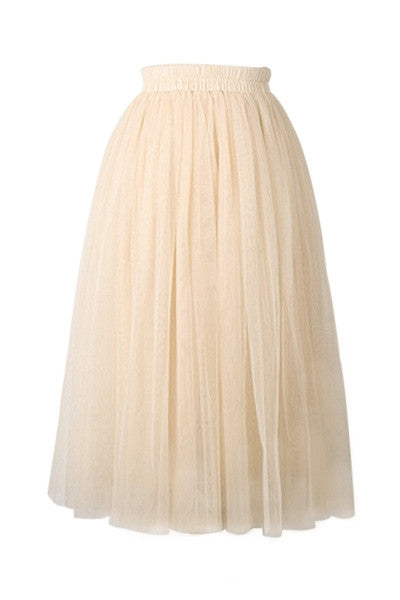 Cream Chiffon Fifties Skirt