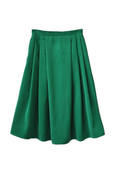 Flared Emerald Skirt