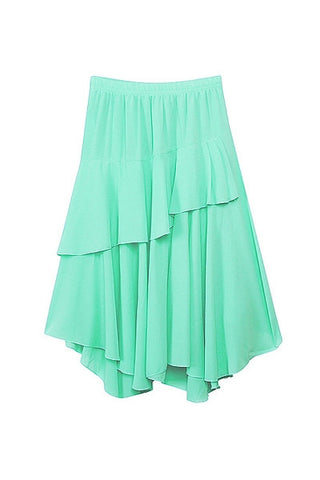 Asymmetrical Jade Skirt