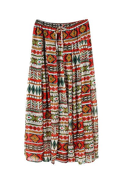 Colorful Full-length Skirt