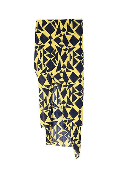 Yellow and Black Abstract Skirt