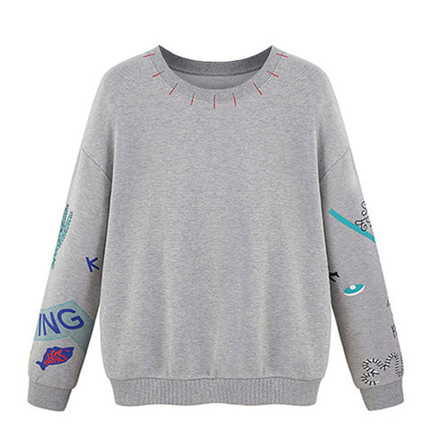 Gray Printed Sweatshirt