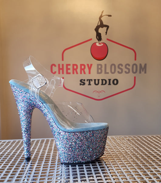Limited Edition Birthday Cake Confetti Glitter Heels - Cherry Blossom Studio