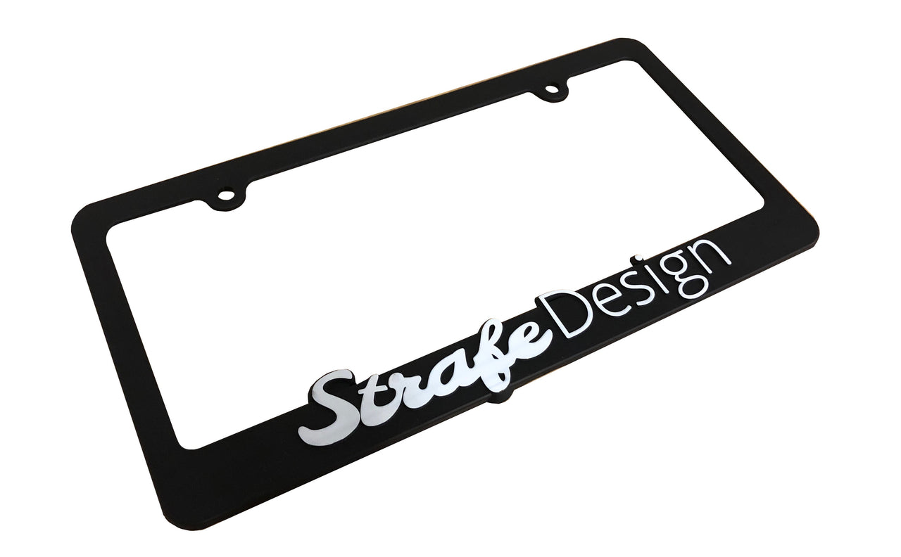 Strafe Design License Plate Frame
