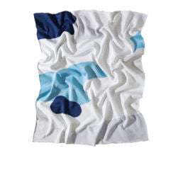 The Clarke Baby Blanket - Blue/Navy/Grey/White