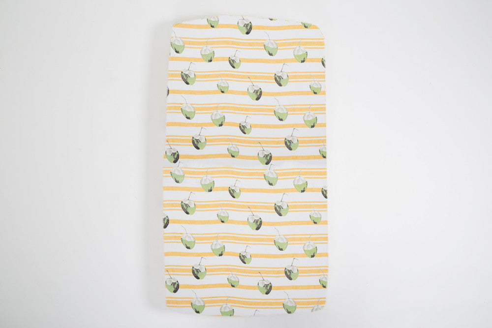 Coconut Fitted Cot Sheet