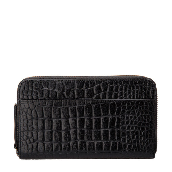 Delilah Wallet - Black Croc