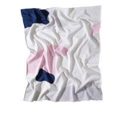 The Clarke Baby Blanket - Pink/Navy/Grey/White