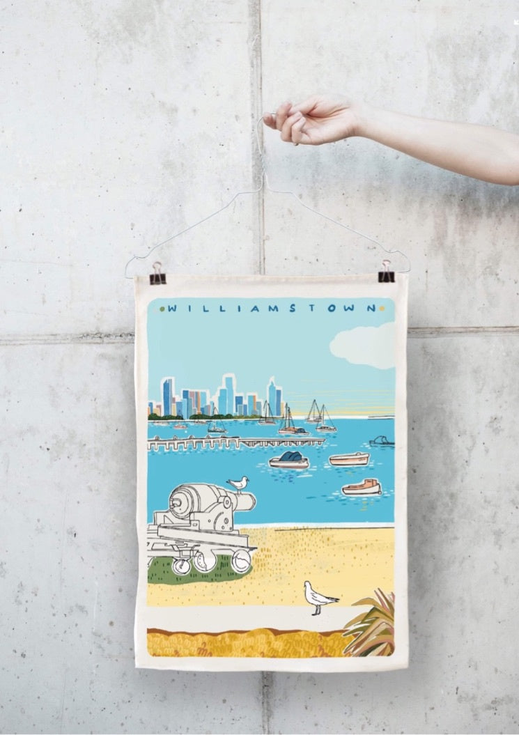 Parul Sen Williamstown Teatowel