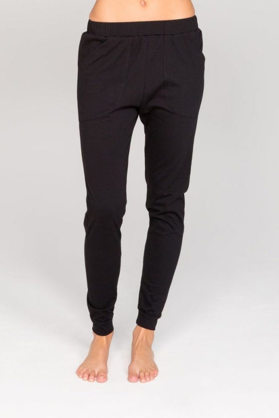 Annukka slouch pants organic cotton black