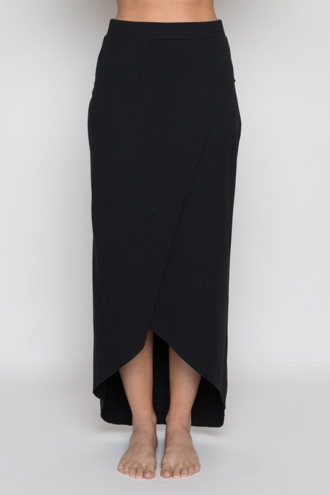 Annukka High Waisted Skirt Organic Cotton Black