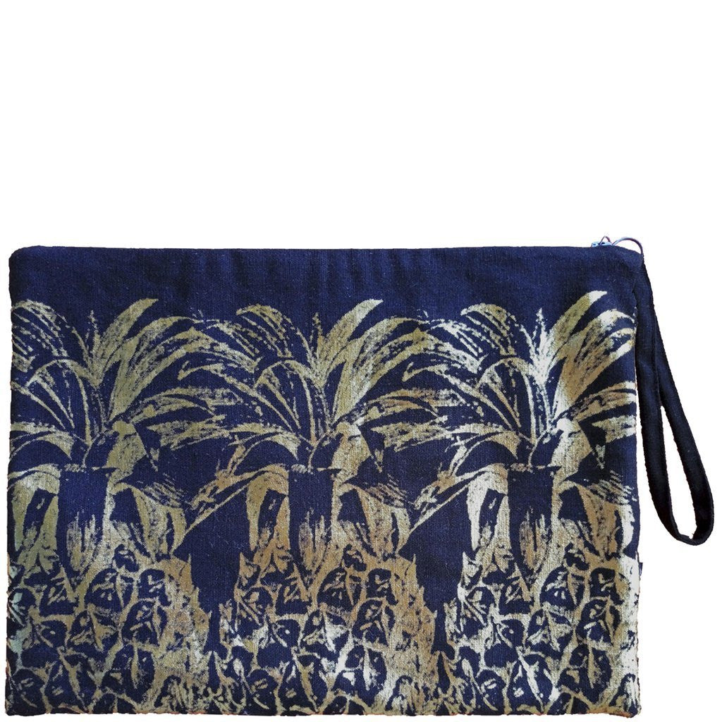 GOLDEN PINEAPPLE CLUTCH - BLACK