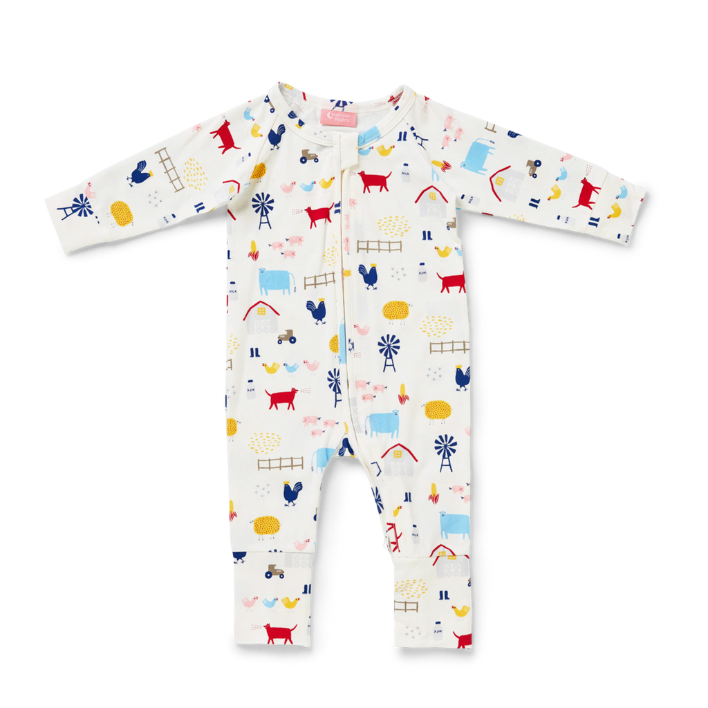 Farm Life Zip Sleep Suit