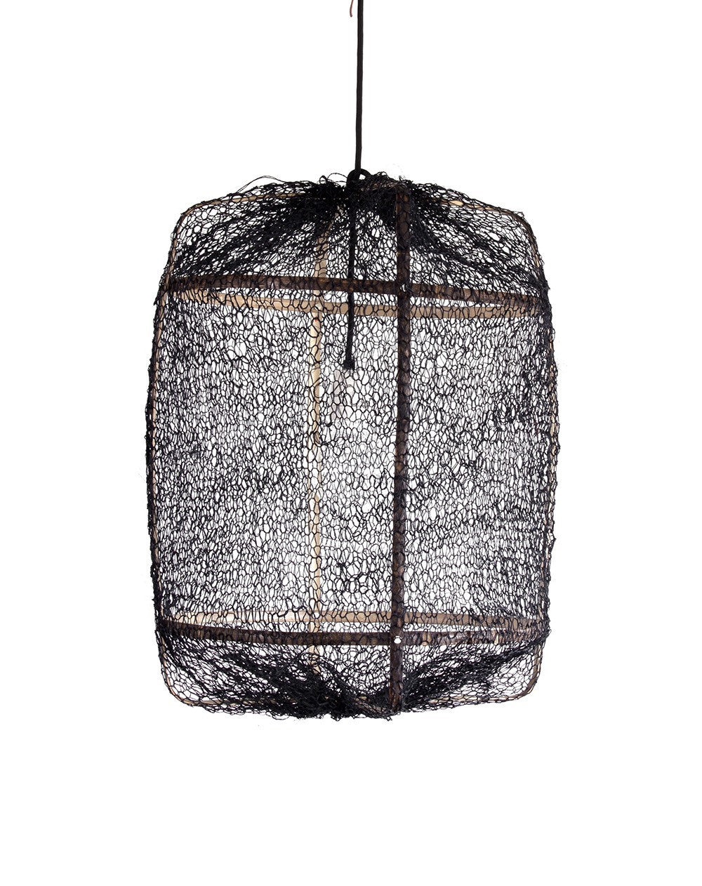 AY Illuminate - Z5 Black Sisal Net and bamboo Light  cover