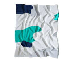 The Clarke Baby Blanket - Green/Navy/Grey/White