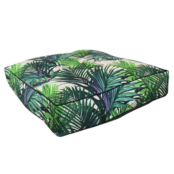Tropical Leaves Floor Cushion 70cm x 70cm