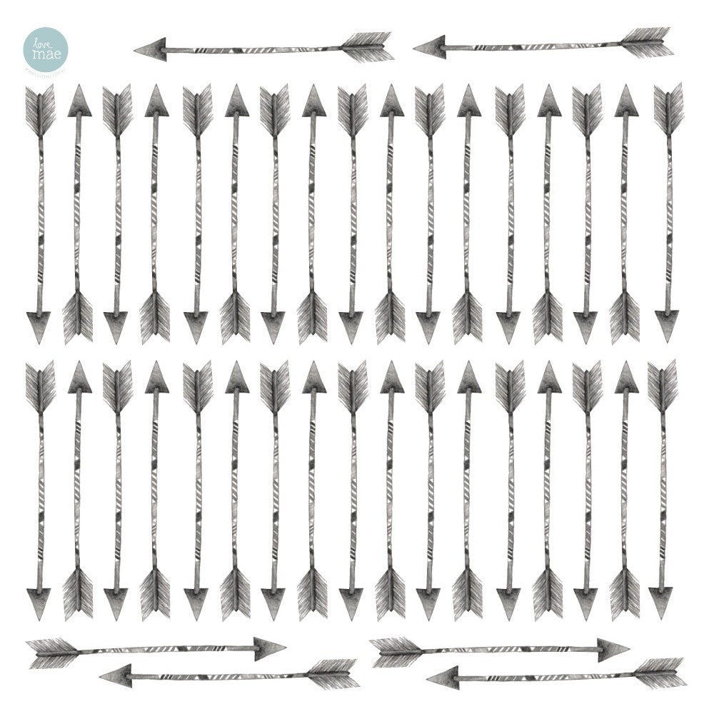 Arrows Fabric Sticker Sheet