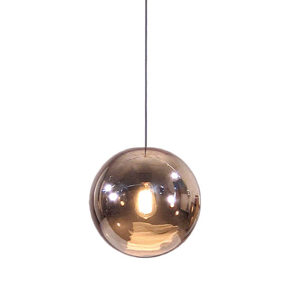 Glazed Ball Lamp - Copper