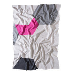 The Atlantic Classic Blanket - Grey/Rose/White