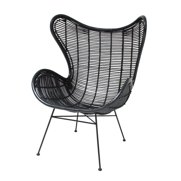 Rattan Egg Chair - Black