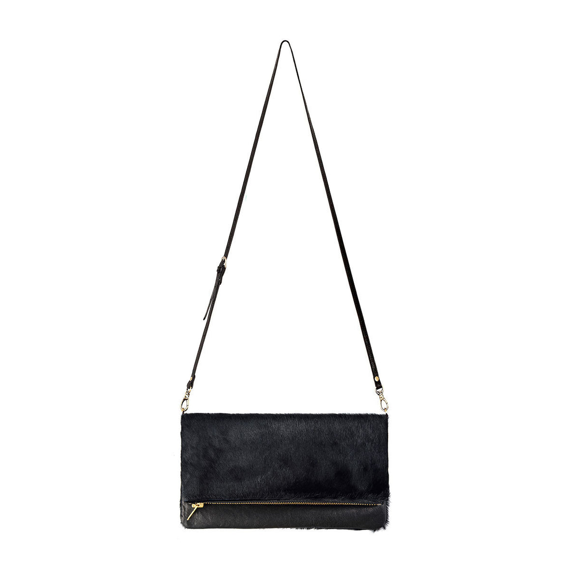 Gwyneth Bag - Black / Black Fur