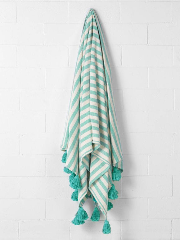 Linen House Throw Pica Turquoise