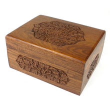 Load image into Gallery viewer, Handmade Carved Box - Rose Detail Design Handmade and Fair Trade