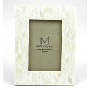 Picture Frame - 4x6 - Bone and Wood - Cream | Fair Trade & Handmade