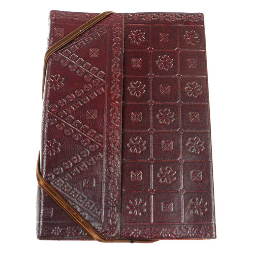 Embossed Leather Cover Journal | Fair Trade & Handmade
