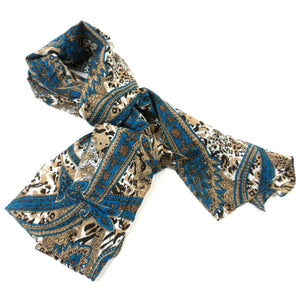Cotton Scarf - Earth Blue | Fair Trade & Handmade