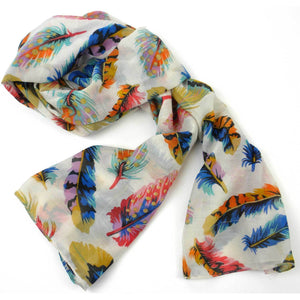 Polyester Scarf - Colored Feather | Fair Trade & Handmade