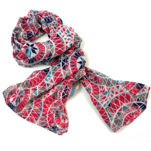 Polyester Scarf - Pink Geo | Fair Trade & Handmade