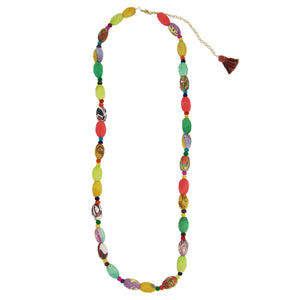Recycled Textile Bead Necklace - 'Radiance' | Fair Trade & Handmade