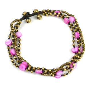 Bohemian Bead Anklet - Berry | Fair Trade & Handmade