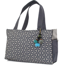 Load image into Gallery viewer, Flower of Life Handbag - Graphite | Fair Trade & Handmade