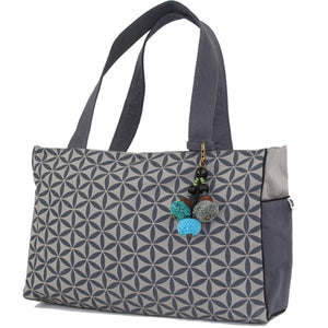 Flower of Life Handbag - Graphite | Fair Trade & Handmade