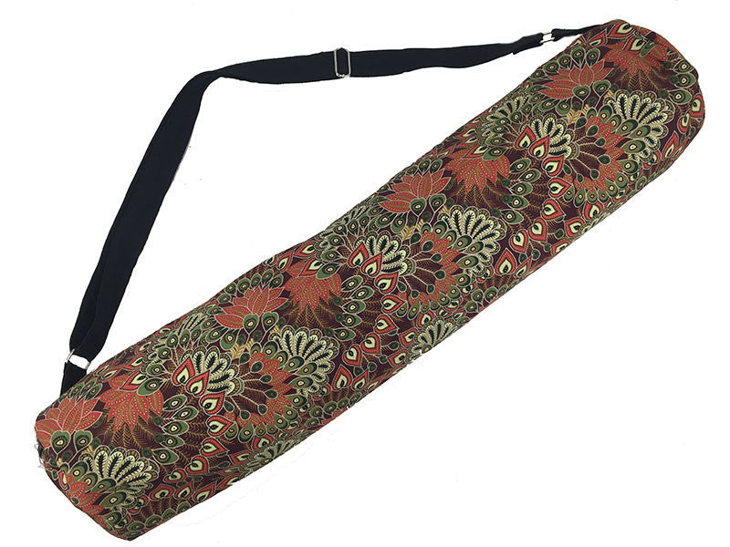 Yoga Mat Bag - Feathers Clay | Fair Trade & Handmade