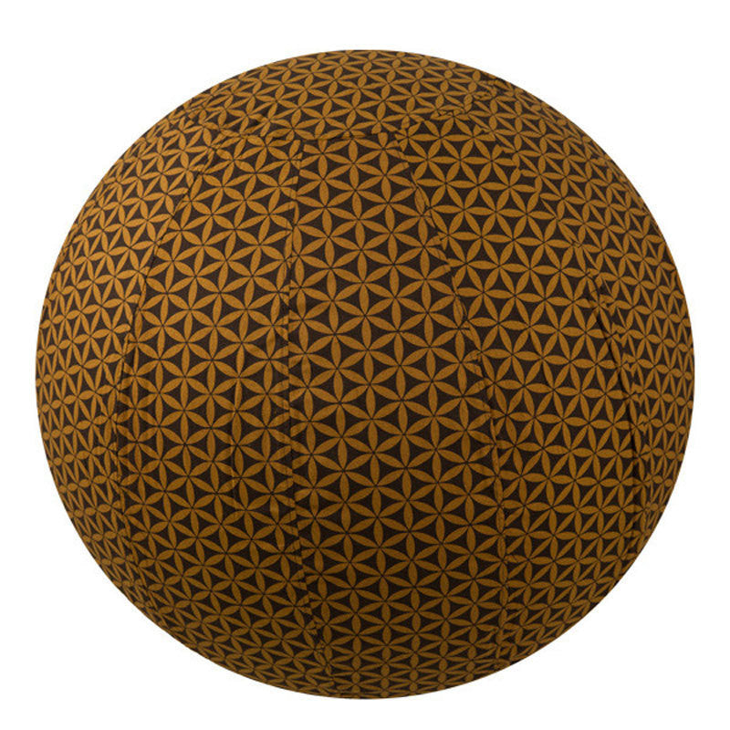 Yoga Ball Cover - Brown Flower of Life - 65cm | Fair Trade & Handmade