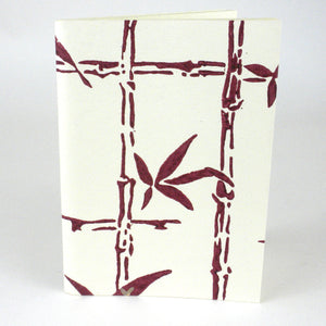 Soft Cover Journal - Maroon Bamboo | Fair Trade & Handmade