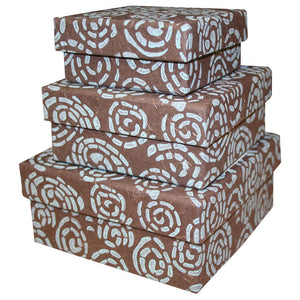 Tribal Pattern Nesting Boxes - Set of Three | Fair Trade & Handmade