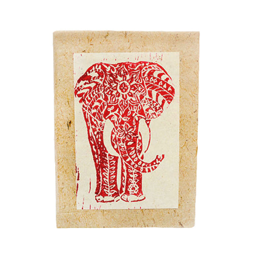 Handmade Elephant Block Print Journal