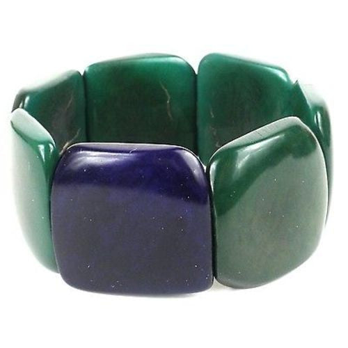 Accented Tagua Bracelet Hunter Green Handmade and Fair Trade