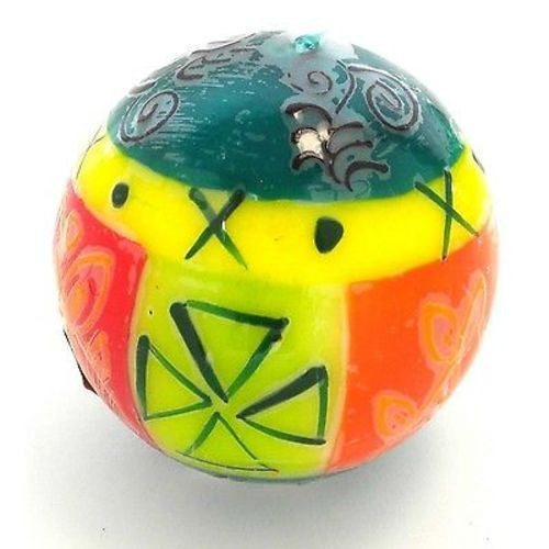 Hand-Painted Ball Candle - Matuko Design Handmade and Fair Trade