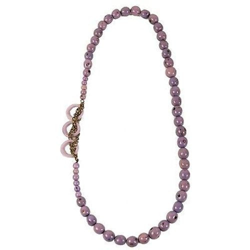 Circle Chain Necklace in Lavender Handmade and Fair Trade